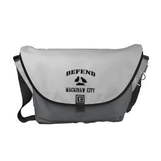 Defend Mackinaw City Messenger Bags