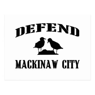 Defend Mackinaw City Postcard