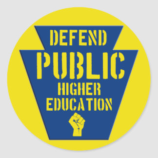 Defend Public Higher Ed in PA Stickers