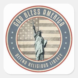Defend Religious Liberty Square Sticker