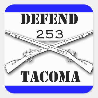 Defend Tacoma Square Sticker