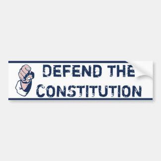 Defend the Constitution Car Bumper Sticker