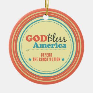 Defend The Constitution Ceramic Ornament