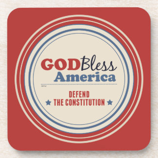 Defend The Constitution Drink Coaster