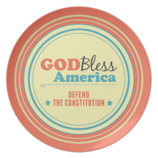 Defend The Constitution Melamine Plate