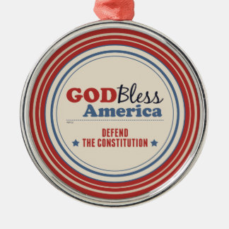 Defend The Constitution Metal Ornament