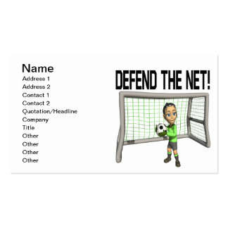 Defend The Net Double-Sided Standard Business Cards (Pack Of 100)
