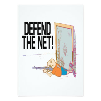 Defend The Net 5x7 Paper Invitation Card
