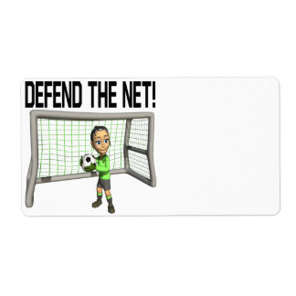 Defend The Net Custom Shipping Label