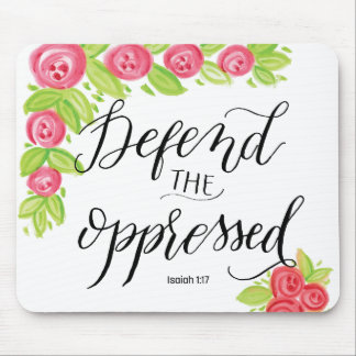 Defend the Oppressed Mouse Pad