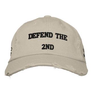 defend the second baseball cap