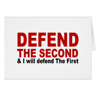 Defend The Second Greeting Card