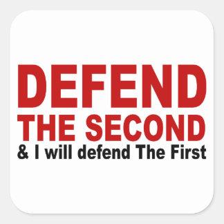 Defend The Second Square Sticker