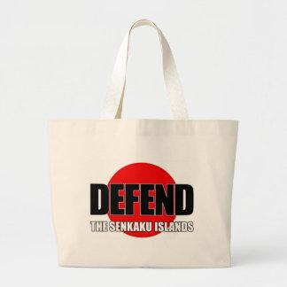 Defend the Senkaku Islands - Japanese Flag Large Tote Bag