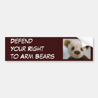 Defend Your Right to Arm Bears Car Bumper Sticker