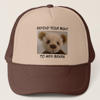 Defend Your Right To Arm Bears, Hat, Brown Trucker Hat