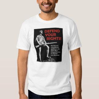 Defend your Second Amendment rights T-shirt (black