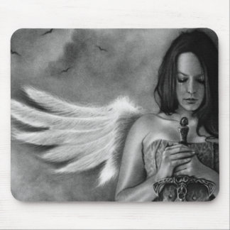 Defender Angel  Girl Sword Mouse Pad