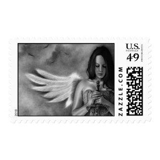Defender Angel  Girl Sword Postage