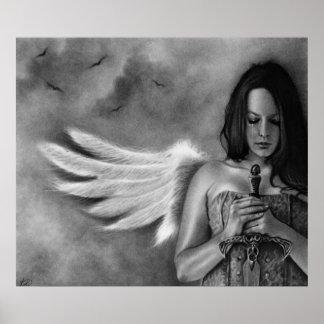 Defender Angel  Girl Sword Poster