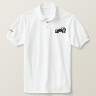 defender embroidered polo shirt