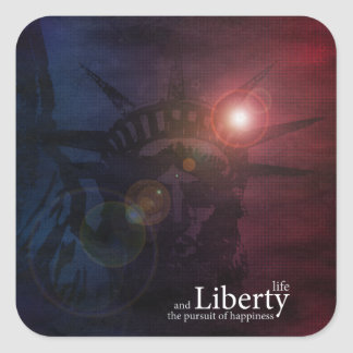 Defender of Liberty Square Sticker