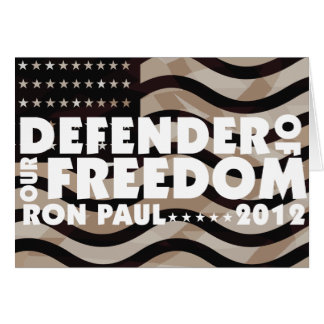 DEFENDER OF OUR FREEDOM GREETING CARD