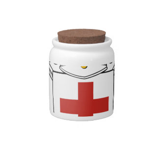 DEFENDER OF THE FAITH  KNIGHTS TEMPLAR EMBLEM CANDY JARS
