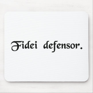 Defender of the faith. mouse pad