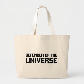 Defender Of The Universe Large Tote Bag