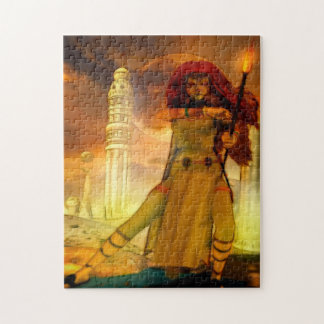 Defender Science Fiction Art Jigsaw Puzzle