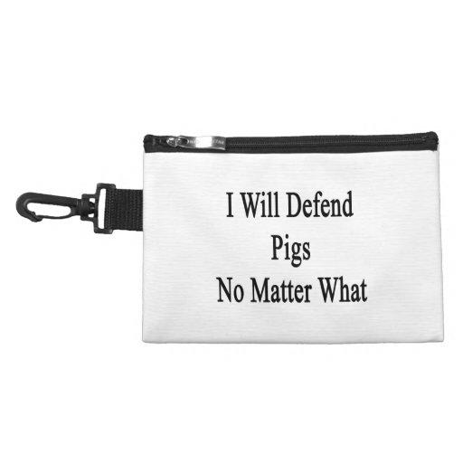 Defenderé cerdos no importa qué