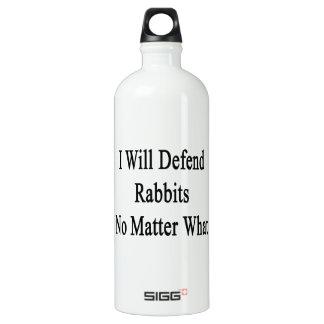 Defenderé conejos no importa qué