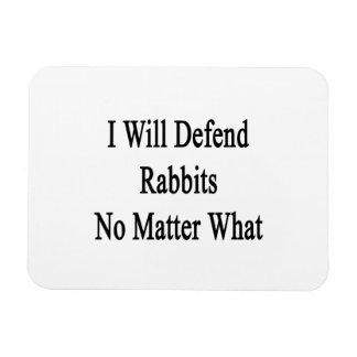 Defenderé conejos no importa qué imán