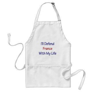 Defenderé Francia con mi vida Delantal