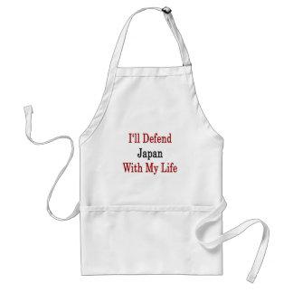 Defenderé Japón con mi vida Delantales