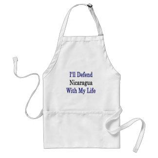 Defenderé Nicaragua con mi vida Delantal