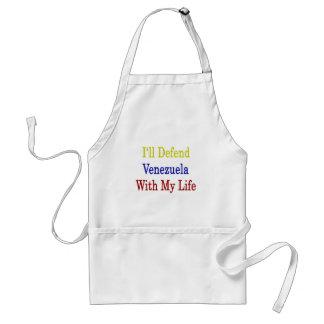 Defenderé Venezuela con mi vida Delantal