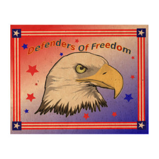 Defenders Of Freedom Eagle Cork Print Cork Paper