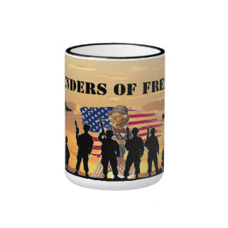 DEFENDERS OF FREEDOM RINGER COFFEE MUG