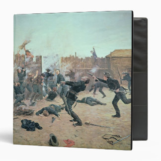 Defending the Fort: Indians attack a U.S. Cavalry 3 Ring Binders