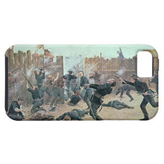 Defending the Fort: Indians attack a U.S. Cavalry iPhone 5 Cover