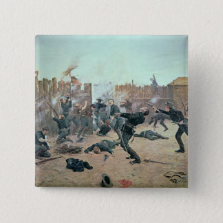 Defending the Fort: Indians attack a U.S. Cavalry Pinback Button