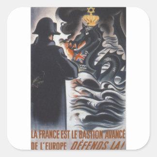 Defends Propaganda Poster Square Sticker