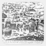 Defenestration de Praga, 1618 Pegatinas Cuadradas