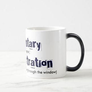 Defenestration involuntario taza de café