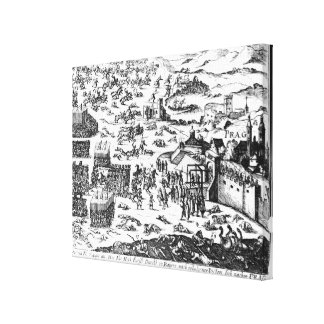Defenestration of Prague, 1618 Gallery Wrapped Canvas