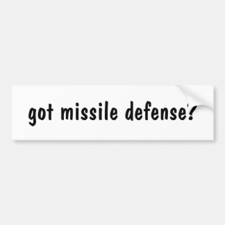 ¿defensa conseguida del misil? pegatina para auto