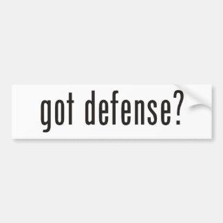 ¿defensa conseguida? pegatina para auto