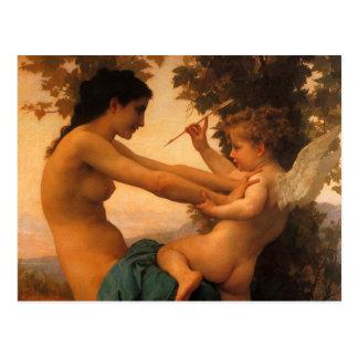 Defensa contra el eros (Cupid) Bouguereau Postal